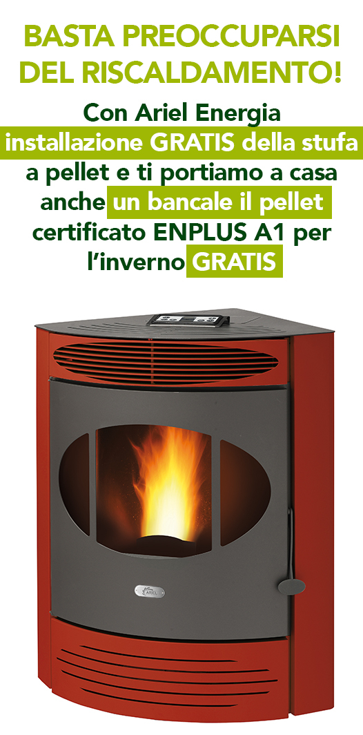 Promozione stufe a pellet ariel energia for Ariel energia stufe a pellet prezzi